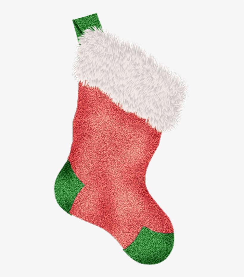 Christmas Stocking, Green Christmas Stockings, Scrapbook - Green Christmas Stocking Png, transparent png #1044073