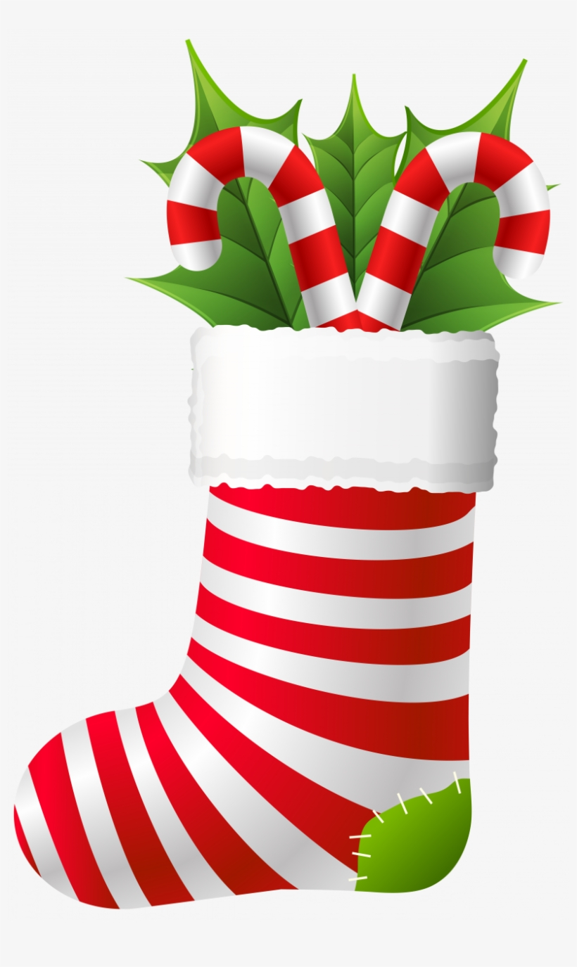 Library Christmas Stocking Clipart Images - Christmas Stocking Clipart Transparent Background, transparent png #1044116