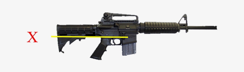 """Ar-15 Configured As An Assault Weapon With """"detachable - Ar 15, transparent png #1044542"""