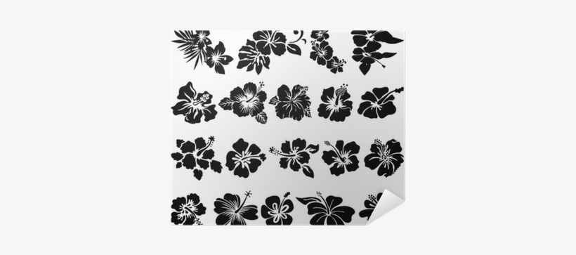 Hawaiian Flower Tattoo Black, transparent png #1044638