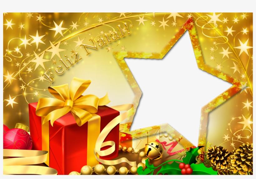 Moldura Estrela De Natal - Merry Christmas Feliz Navidad Feliz Natal, transparent png #1045885