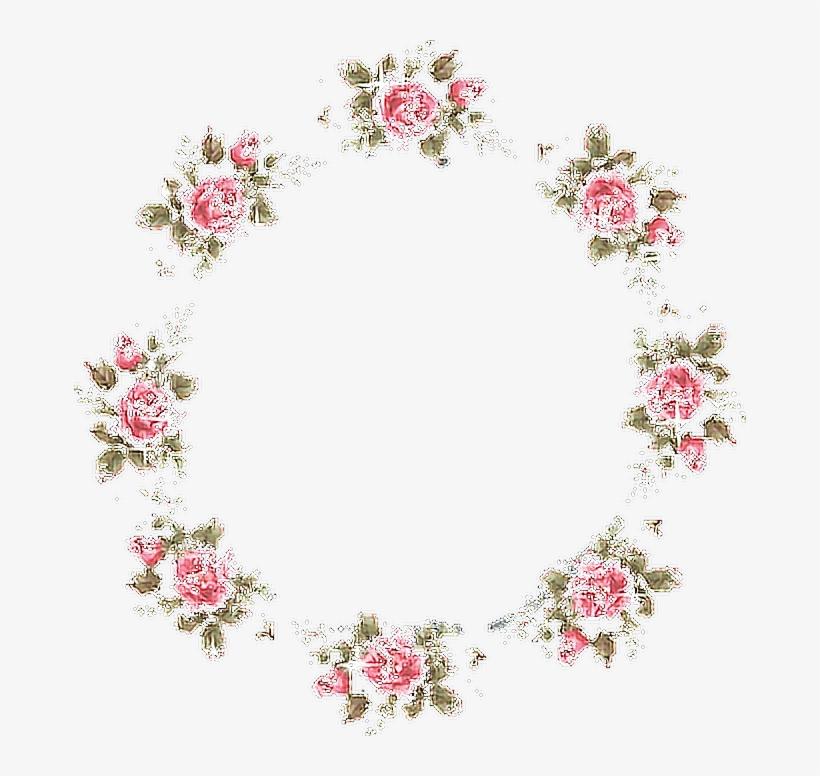 Frame Roses Flowers Aesthetic Tumblr Flower Free Transparent Png