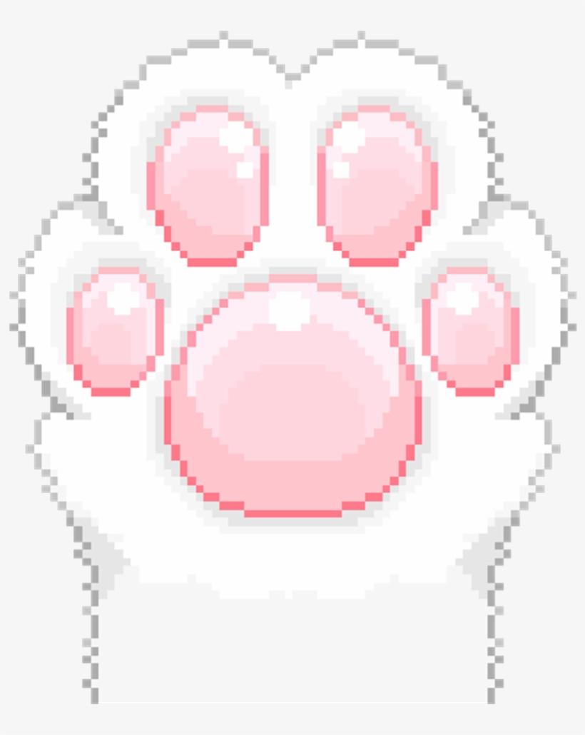 Paw Cat Neko Aesthetic Kawaii Anime Art Sticker Manga Cat Paw Gif