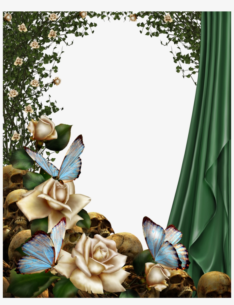 """Gothic Frame By Collect And Creat - Floral White Rose Lace V Square Car Magnet 3"""" X 3"""", transparent png #1049343"""