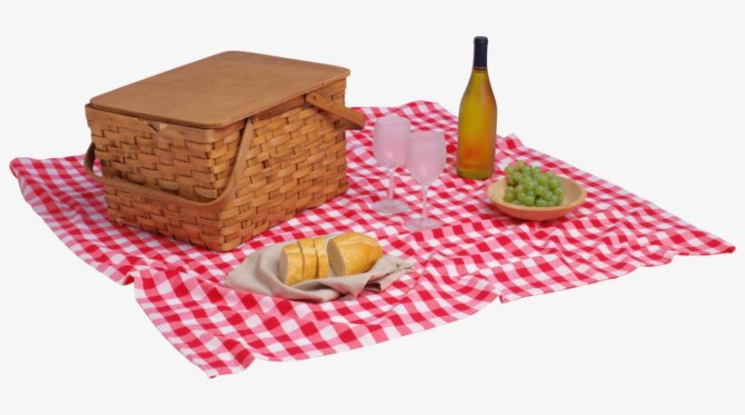 Publicat De Eu Ciresica La - Picnic Basket And Blanket Png, transparent png #1049962