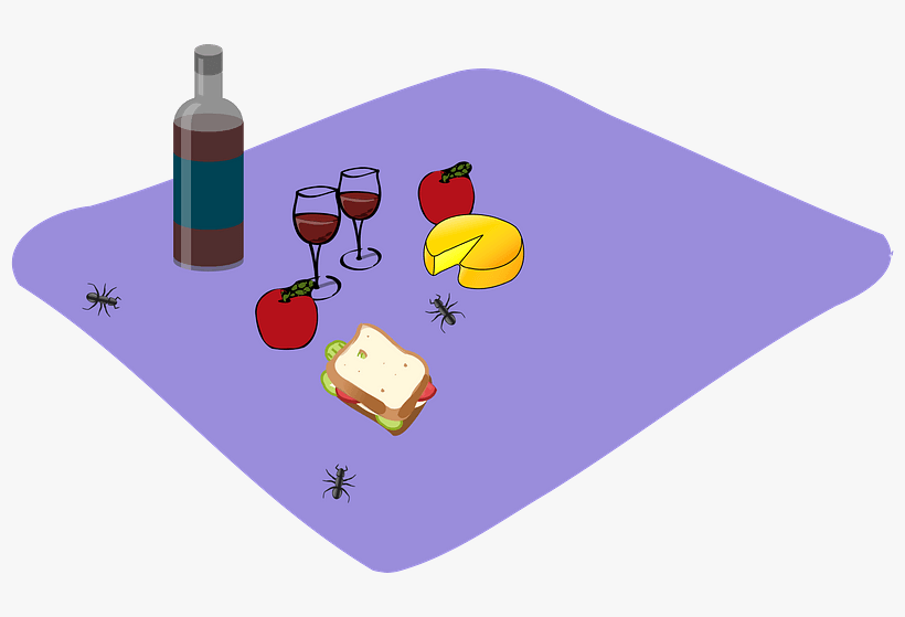 Picnic Baskets Drawing Download - Wine Gift Theres Always Time For Wine Pillow Case, transparent png #1050078