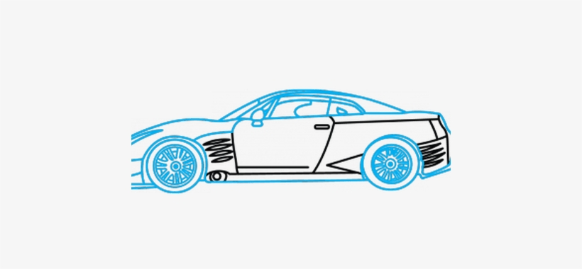 Collection Of Free Drawing Drawn Download On Ubisafe - Draw A Car Gtr, transparent png #1050835