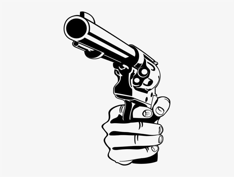 Hand Pistol Gun Wall Sticker - Gun Vector Png, transparent png #1051848