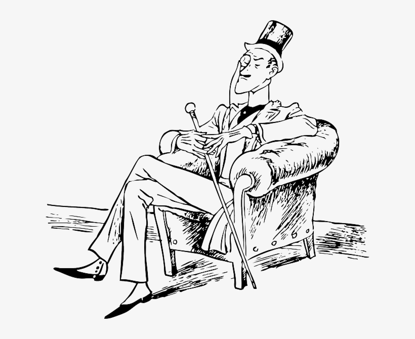Rich, Man, Person, Suit, Chair, Sitting, Gentleman - Drawing Of A Rich Man, transparent png #1051856