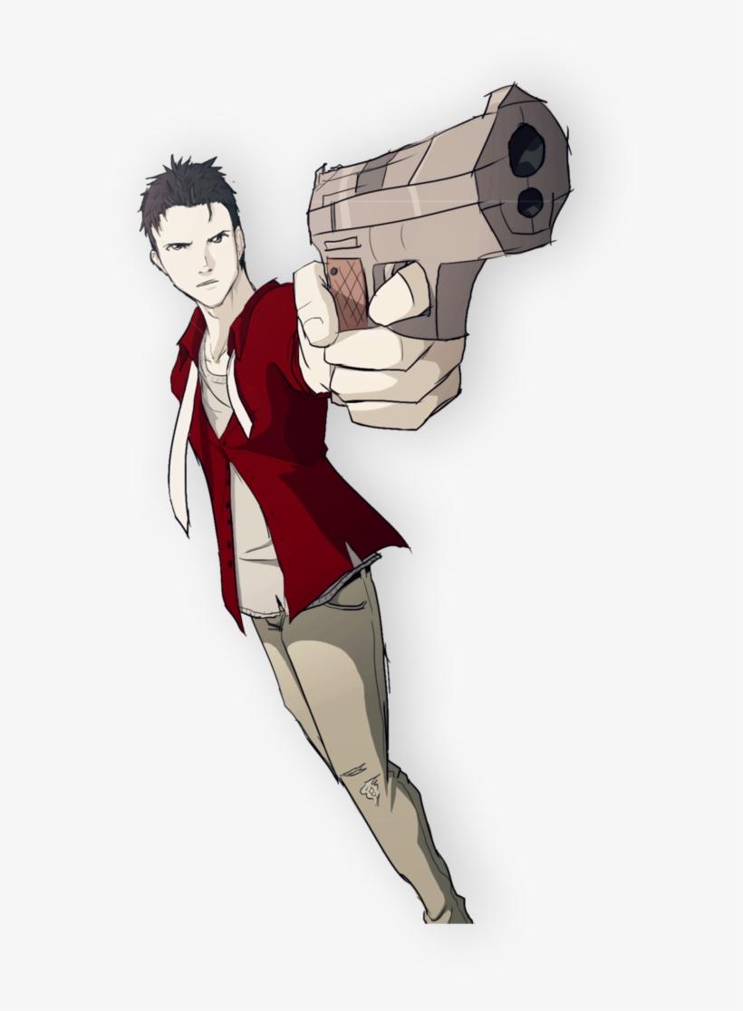 Random Guy Pointing A Gun Doodle By Skeletonny On Deviantart - Guy Pointing A Gun Drawing, transparent png #1051887