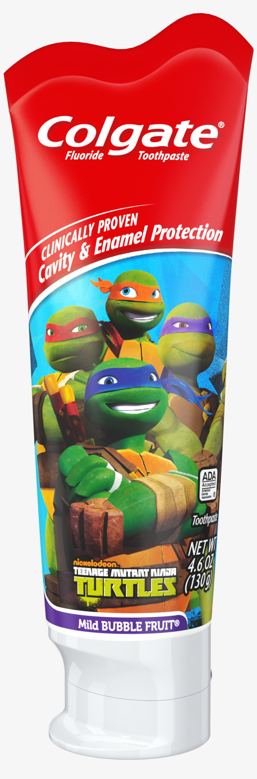 Colgate Kids Fluoride Toothpaste, Teenage Mutant Ninja - Colgate Ninja Turtles Toothpaste - 4.6 Oz Tube, transparent png #1052361