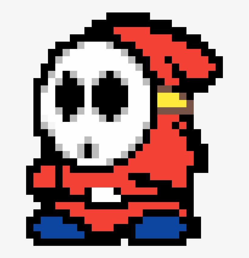 Shy Guy Pixel Art On Grid Free Transparent Png Download Pngkey