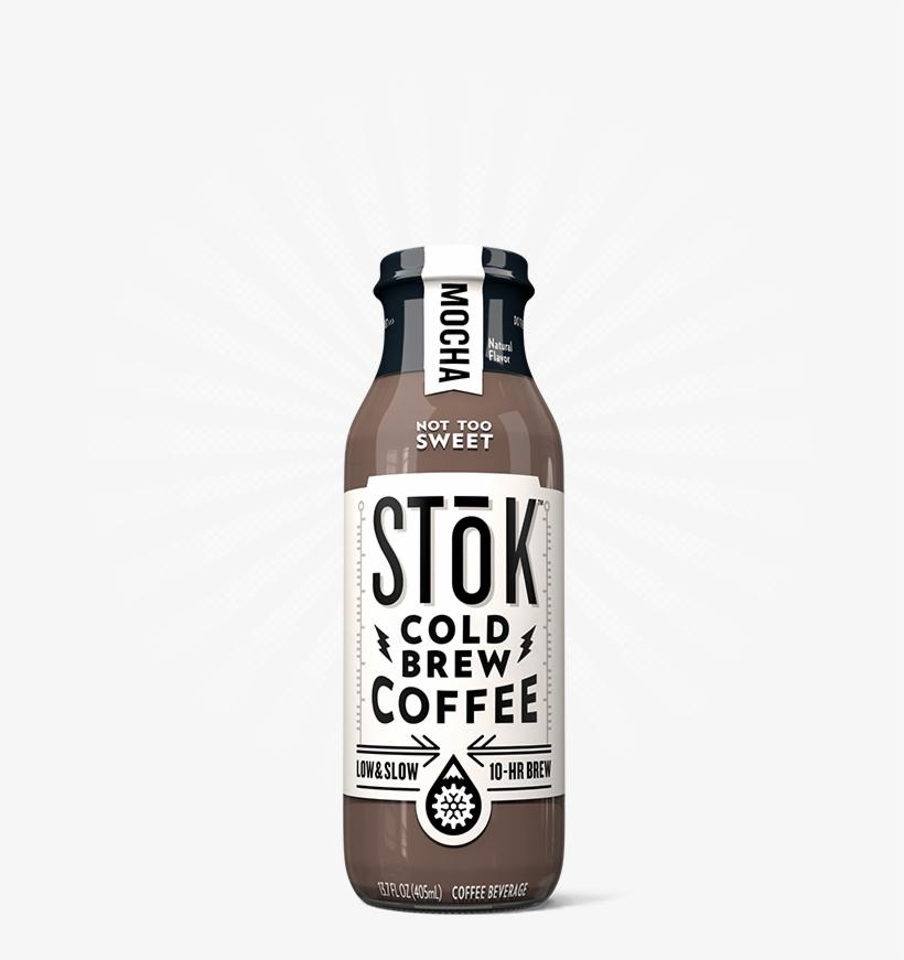 Stōk Mocha Creamed Cold Brew Coffee - Stok Iced Coffee, Cold Brew, Mocha - 13.7 Fl Oz, transparent png #1054413