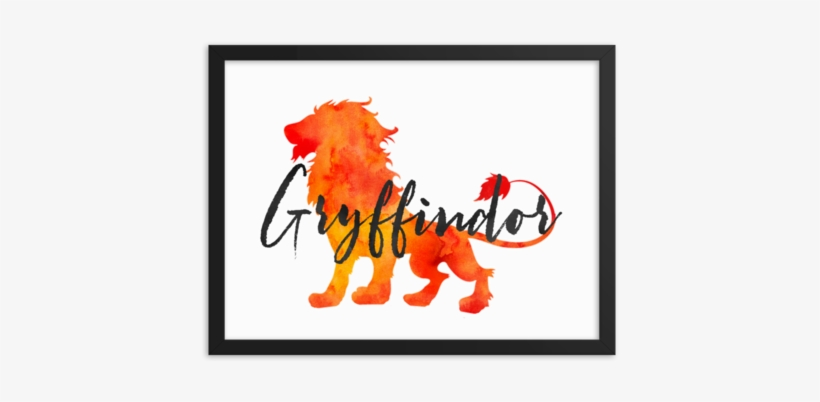 Gryffindor Hogwarts House Pride Art Print - Hogwarts School Of Witchcraft And Wizardry, transparent png #1057895