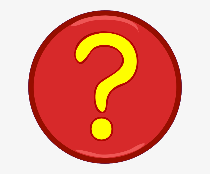 Yellow Question Mark Inside Red Circle Clip Art - Question Mark In A Circle Clipart, transparent png #1059492