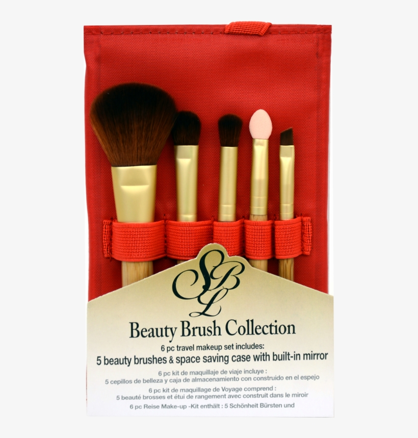Silver Brush Beauty Brush Set Of 5 Brushes In Red Travel - Silver Brush Silver Beauty Brush Sets, Pack, transparent png #1059719