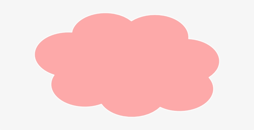 Clouds Clipart Pink Cloud - Pink Cloud Vector Png - Free Transparent