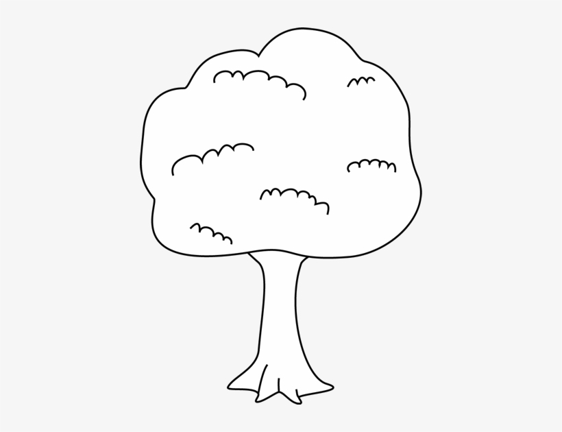 Tree Black And White Black And White Tree Clip Art - Tree Clipart White Tree, transparent png #1062766