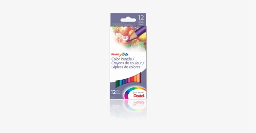 Pentel Arts® Color Pencils, 12 Count - Pentel Arts Colored Pencils - 12 Pencils, transparent png #1063988