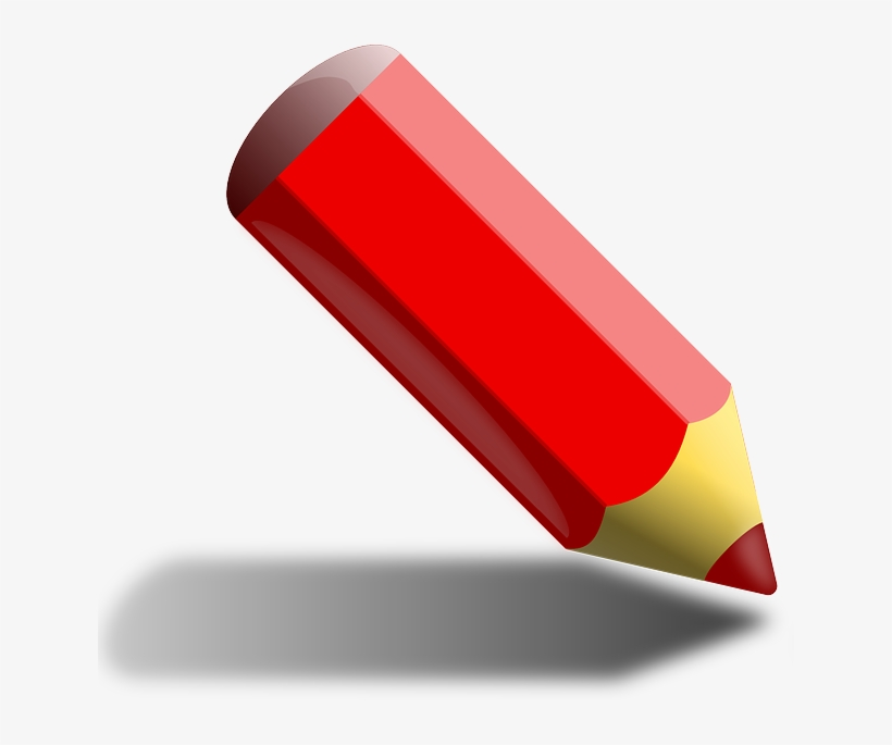 Crayon Colored Pencil, Colored Crayon, Pencil, Red - Red Color Pencil Cartoon, transparent png #1064418