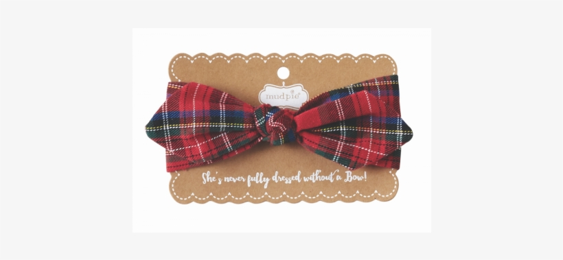Holiday - Mud Pie Knotted Bow Seersucker Headbands - Blue, transparent png #1065014