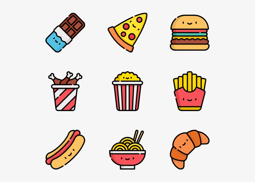 Fast Food - Kawaii Junk Food Png, transparent png #1065622