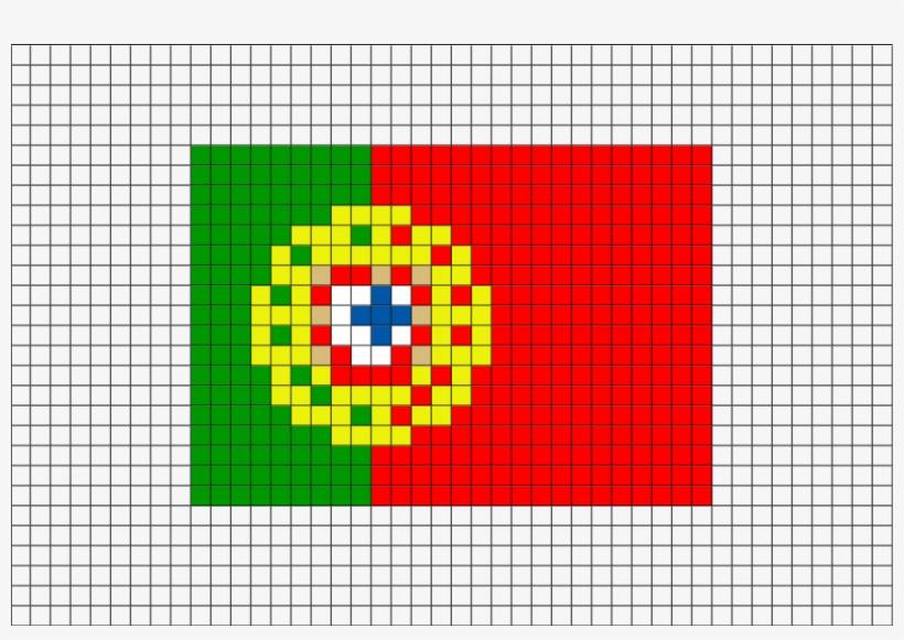 Flag Of Portugal Pixel Art From Brikbook - Pixel Art Portugal, transparent png #1065986