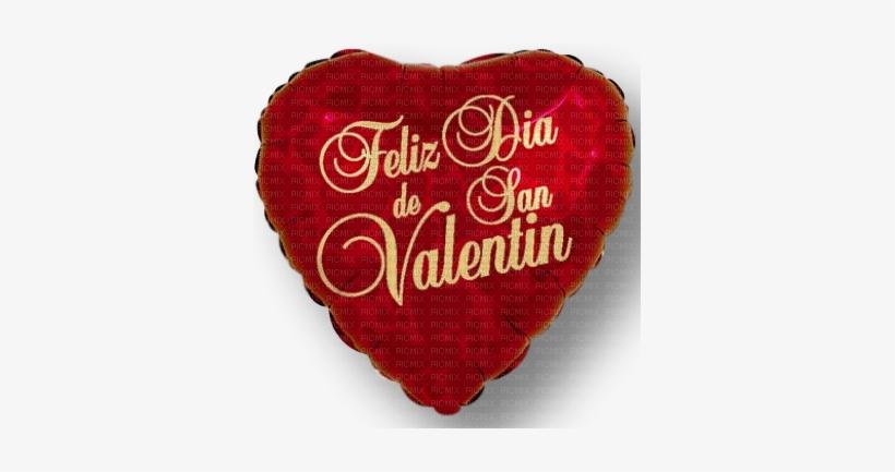 "Feliz San Valentin - 18"" Hearts Feliz Dia De San Valentin - Mylar Balloons, transparent png #1066340"