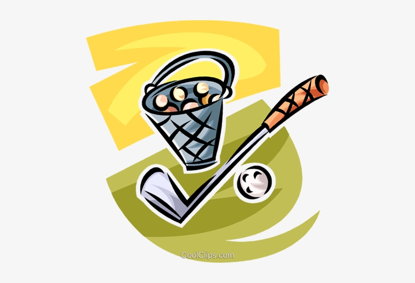 Golf Club And Bucket Of Balls Royalty Free Vector Clip Golf Bucket Clip Art Free Transparent Png Download Pngkey