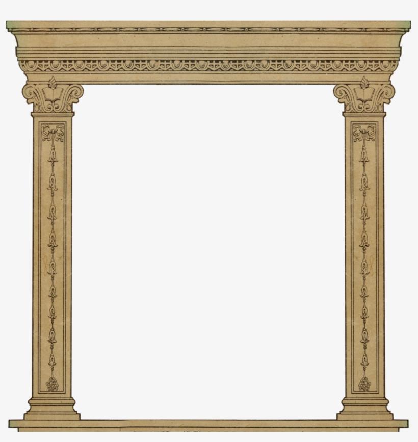 25969e0fce92 Column Clipart Roman Arch - Vintage Frame Door Png - Free ...