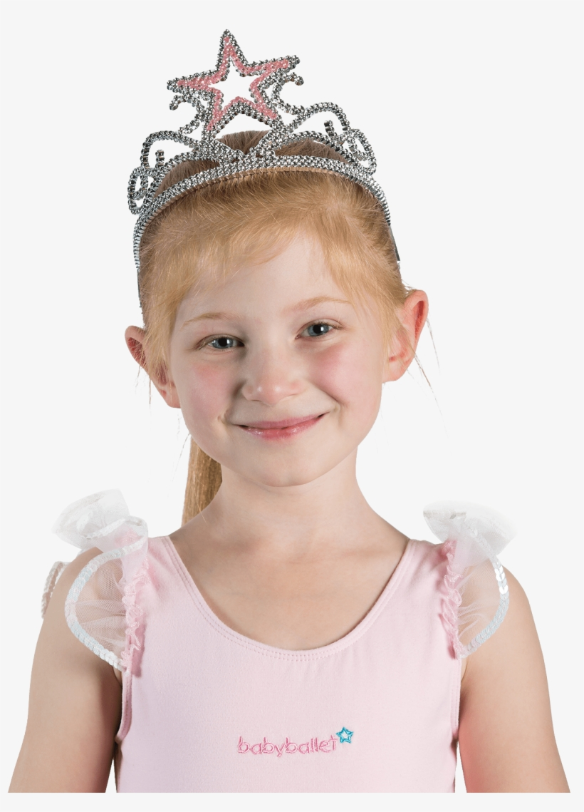 Sparkly Pink Star Tiara Hair Accessory For Little Girls - Dress, transparent png #1067783
