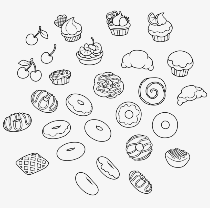 Collection Of Images Picture Transparent Download - Pastry Line Art, transparent png #1068794