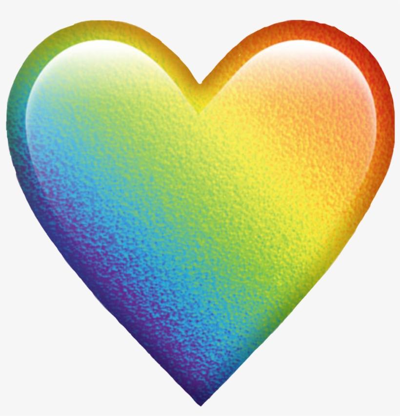 Rainbow Colorful Colors Emoji Heart Emojiheart Freetoed - Heart Any Color Emoji, transparent png #1069126