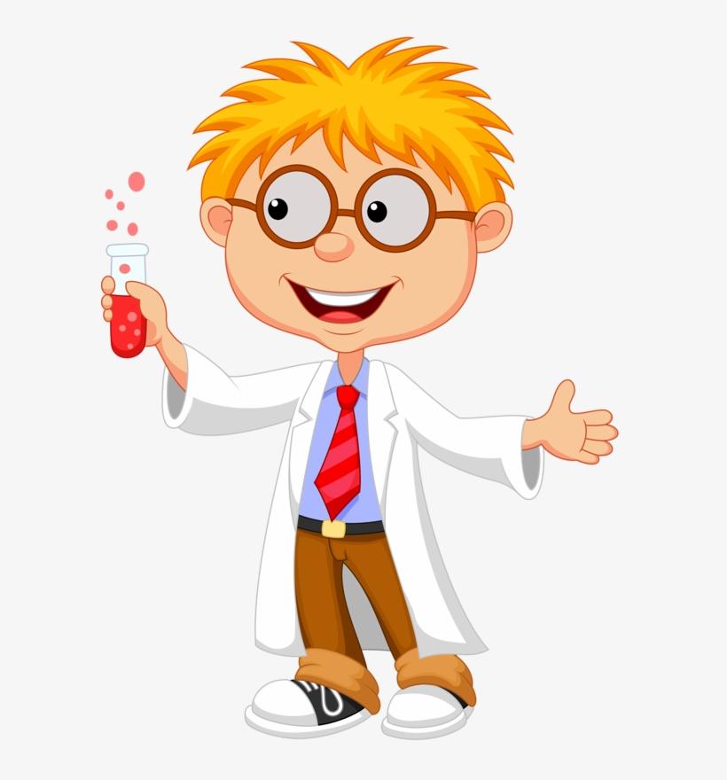 Album - Cartoon Kid Scientist, transparent png #1069528