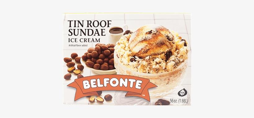 Tin Roof Sundae - Belfonte Ice Cream, Tin Roof Sundae - 0.5 Gl (1.89, transparent png #1070939