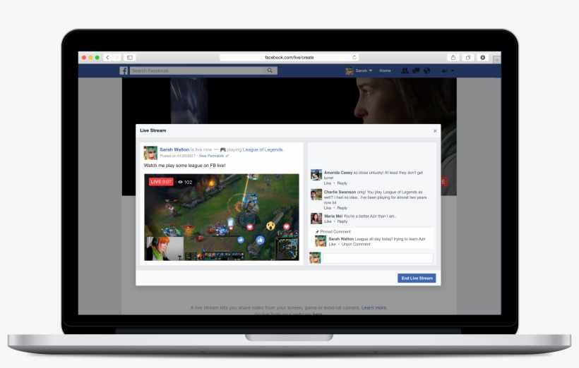 Facebook's Aggressive Push Into Live Streaming Indicates - Facebook Live Screen Share, transparent png #1075016