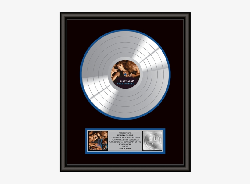 Platinum Record Award - Dance Again By Jennifer Lopez Feat. Pitbull Mp3 Download, transparent png #1075487