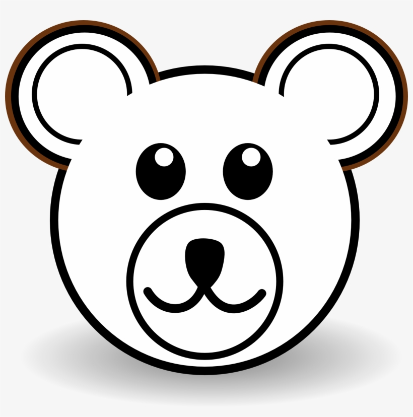 Head Clipart Baby Bear Bear Face Drawing Easy Free Transparent