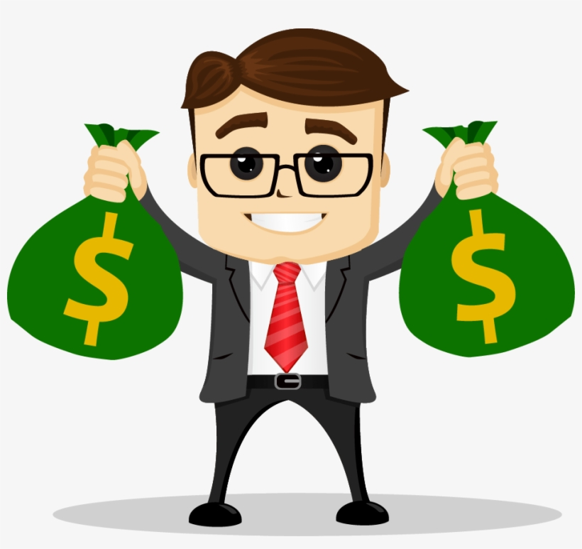 Simple And Actionable Ways To Make Money Right Now - Business Man With Money Bags Clipart, transparent png #1079317