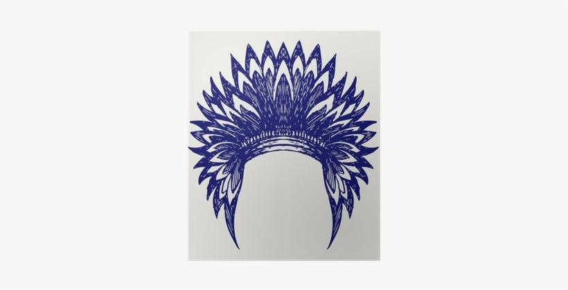 Native American Indian Headdress - Native American Headdress Silhouette, transparent png #1080795