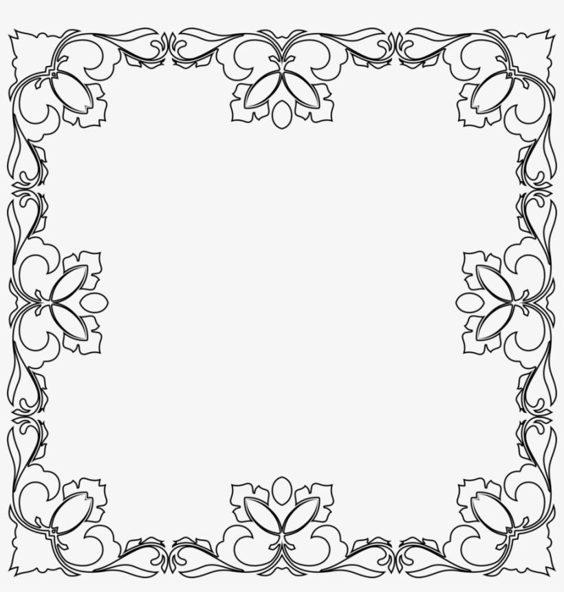 Download Floral Black Design Transparent Bg Clipart - Design, transparent png #1081121