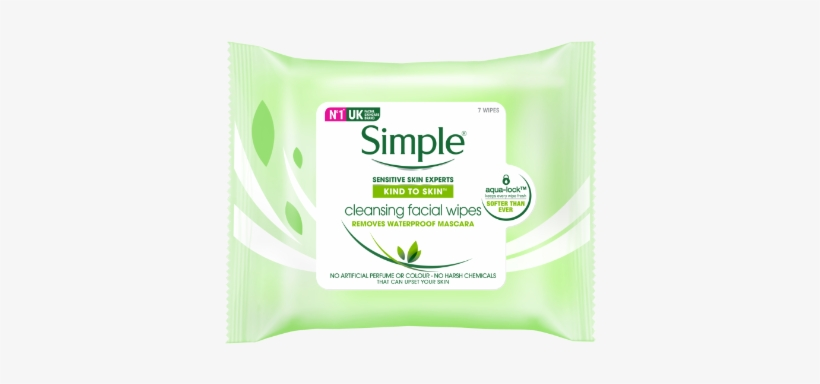 Simple Kind To Skin Cleansing Facial Wipes - Simple Water Boost Micellar Facial Gel Wash 148ml, transparent png #1082209