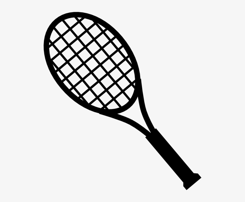 28 Collection Of Tennis Bat Clipart - Tennis Racket Clipart Black And White, transparent png #1083987