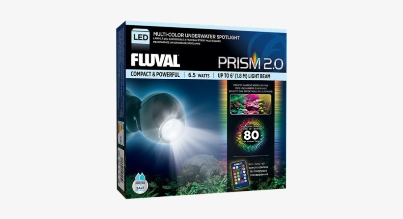 Able To Mount Anywhere Under Glass, The 2nd Generation - Fluval A3975 Prism Led Spot Light, transparent png #1084034