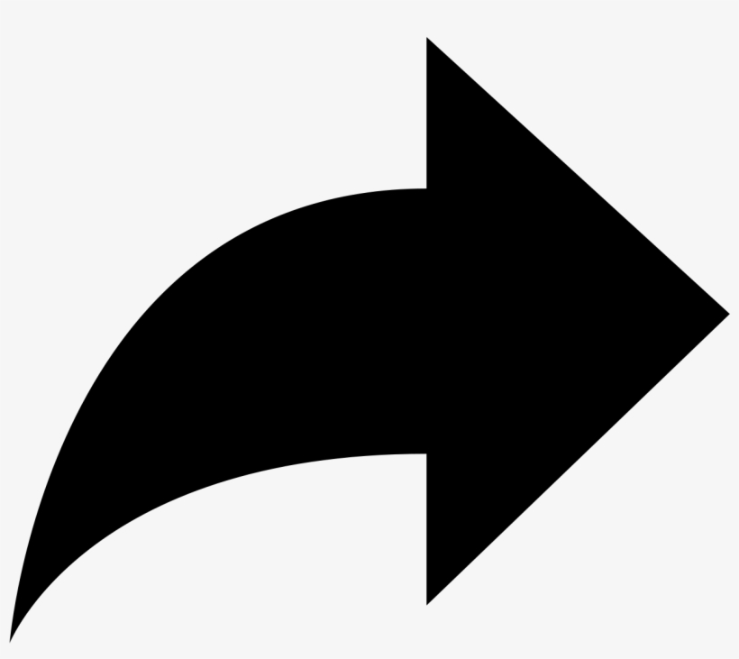 Forward Arrow Icon - Share Arrow Png, transparent png #1084658