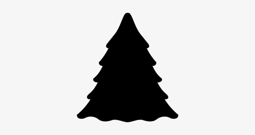 Christmas Tree Silhouette Pine Light - Free Christmas Tree Silhouette, transparent png #1087380