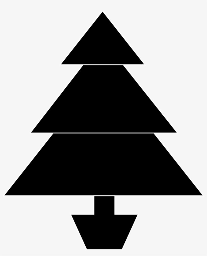 Christmas Tree - Black Christmas Tree Stock, transparent png #1087814
