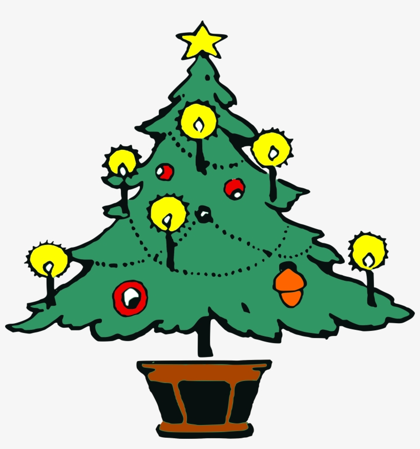 Clipart - Christmas Tree - Free To Use Christmas, transparent png #1087914