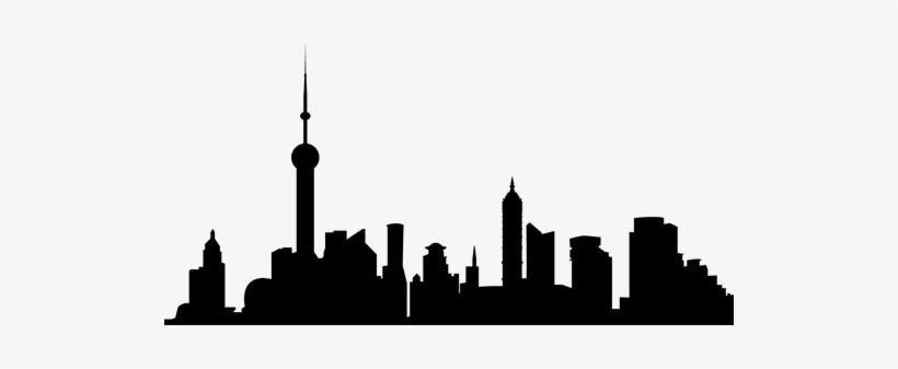 City Skyline Sticker - City Skyline Silhouette Shanghai, transparent png #1088422