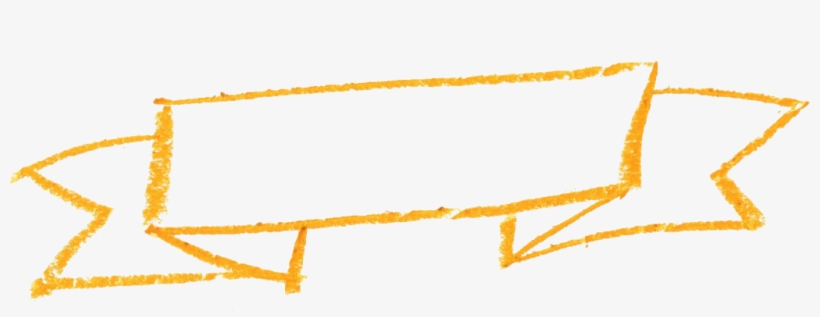 Animation - Yellow Banner Ribbon Watercolor Png, transparent png #1089129